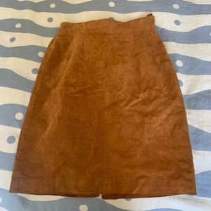 Vintage Lord and Taylor Leather Pencil Skirt